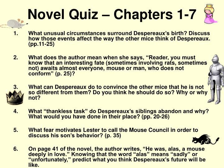 Novel Quiz – Chapters 1-7