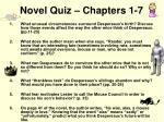 novel quiz chapters 1 7
