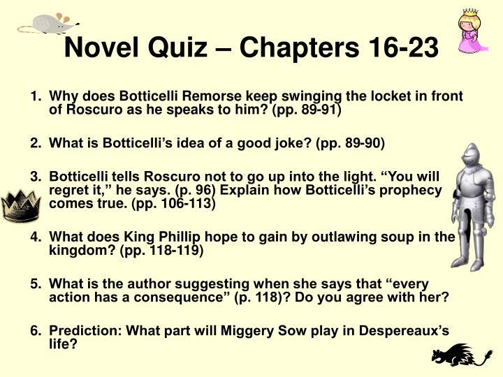 Novel Quiz – Chapters 16-23