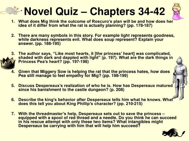 Novel Quiz – Chapters 34-42