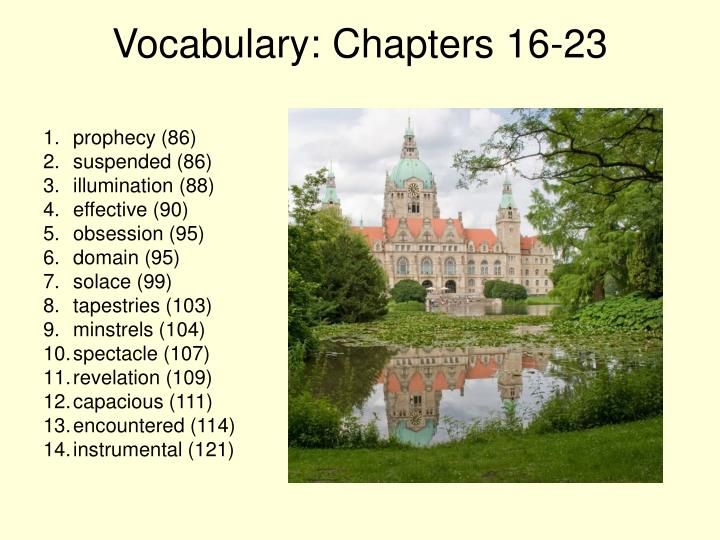Vocabulary: Chapters 16-23