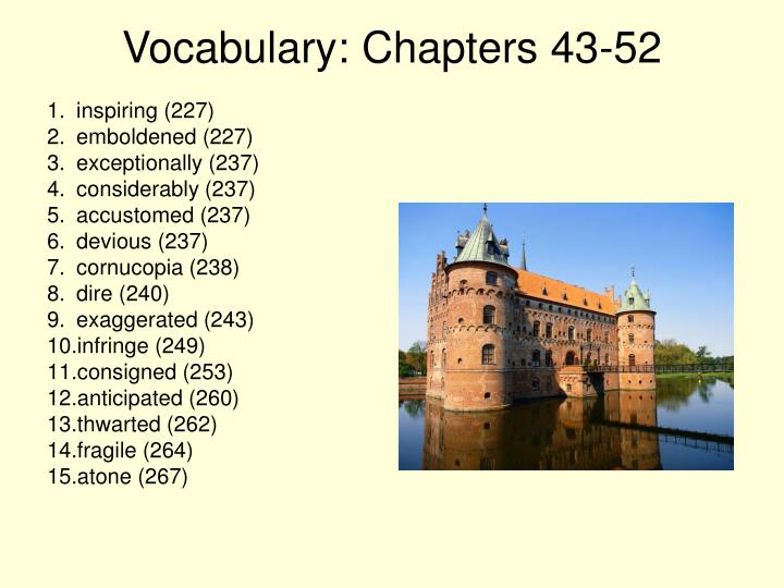 Vocabulary: Chapters 43-52