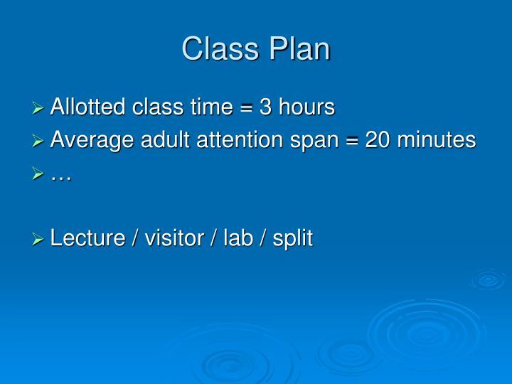 Class Plan