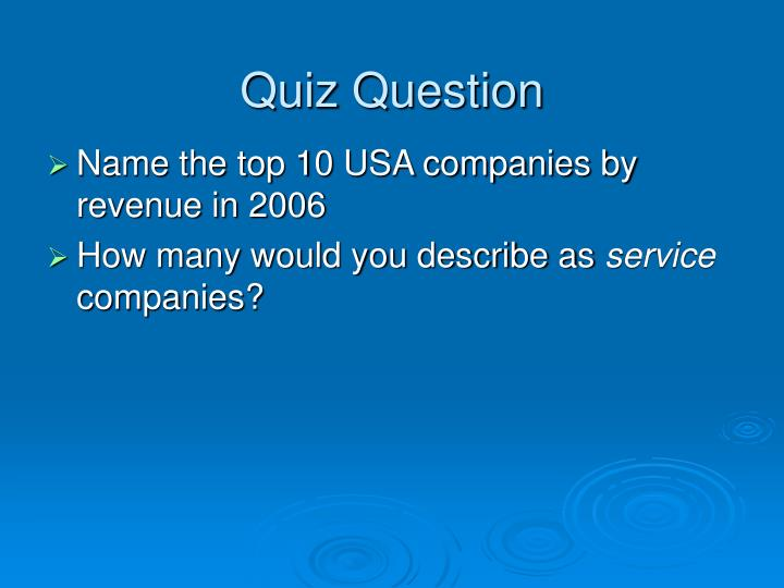 Quiz Question