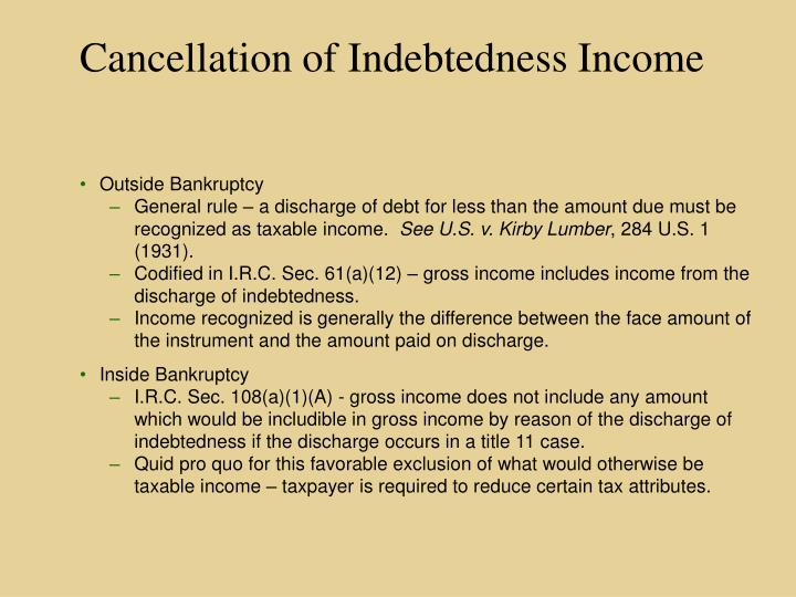 Cancellation of Indebtedness Income