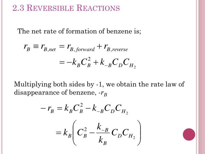 2.3 Reversible Reactions