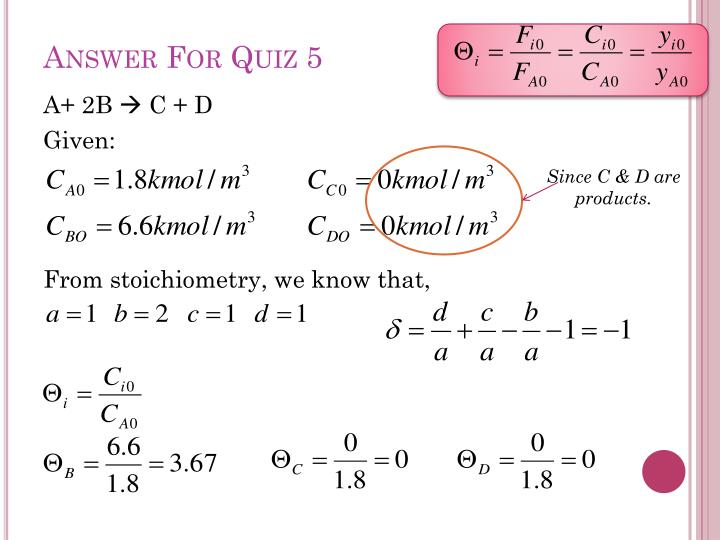 Answer For Quiz 5