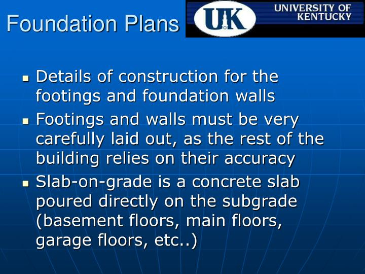Foundation Plans