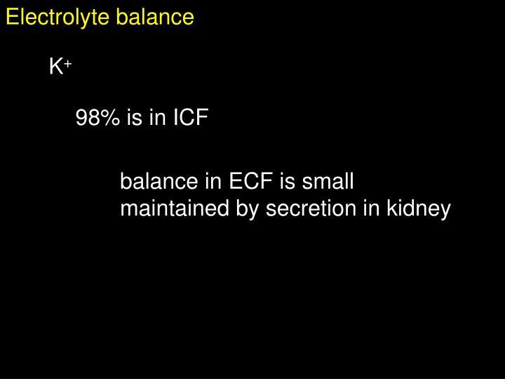Electrolyte balance