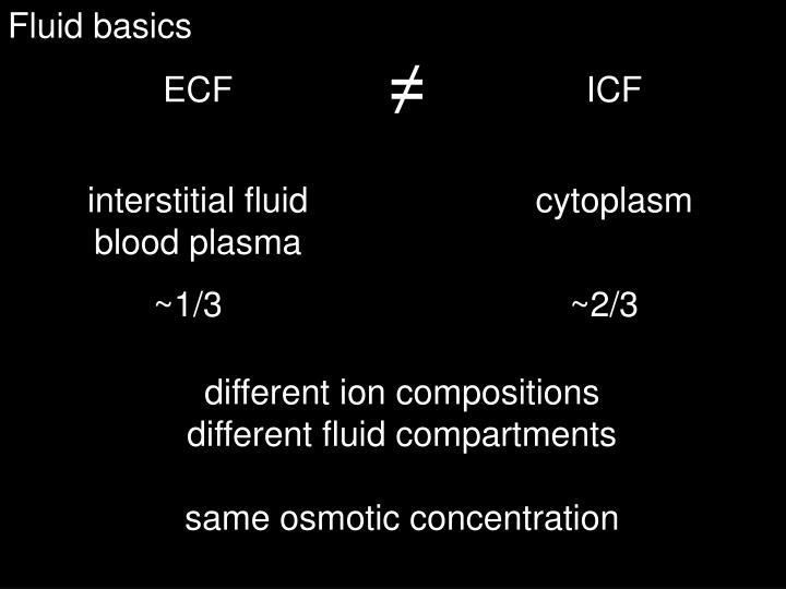 Fluid basics