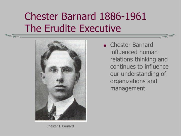 Chester Barnard 1886-1961