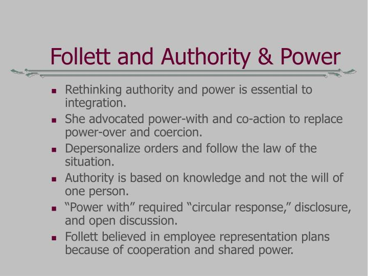 Follett and Authority & Power