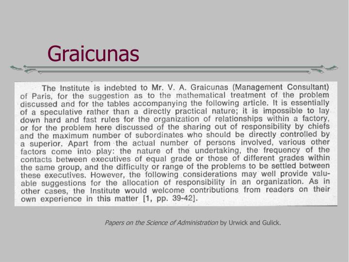 Graicunas