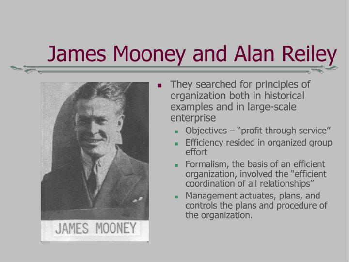 James Mooney and Alan Reiley