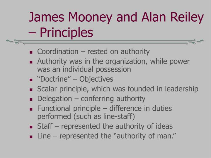 James Mooney and Alan Reiley – Principles