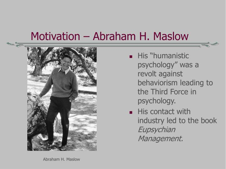 Motivation – Abraham H. Maslow