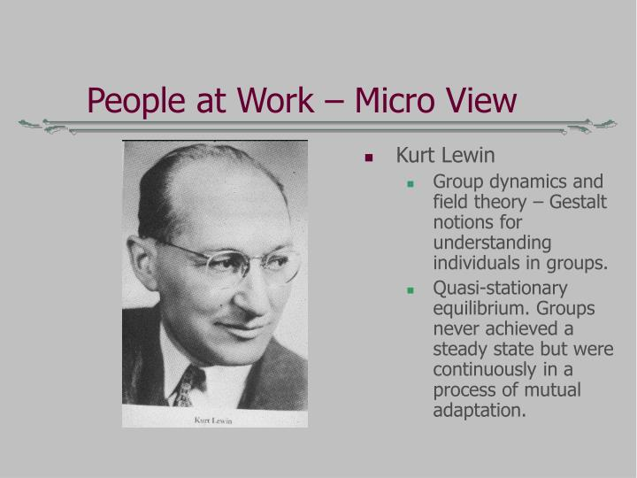 People at Work – Micro View