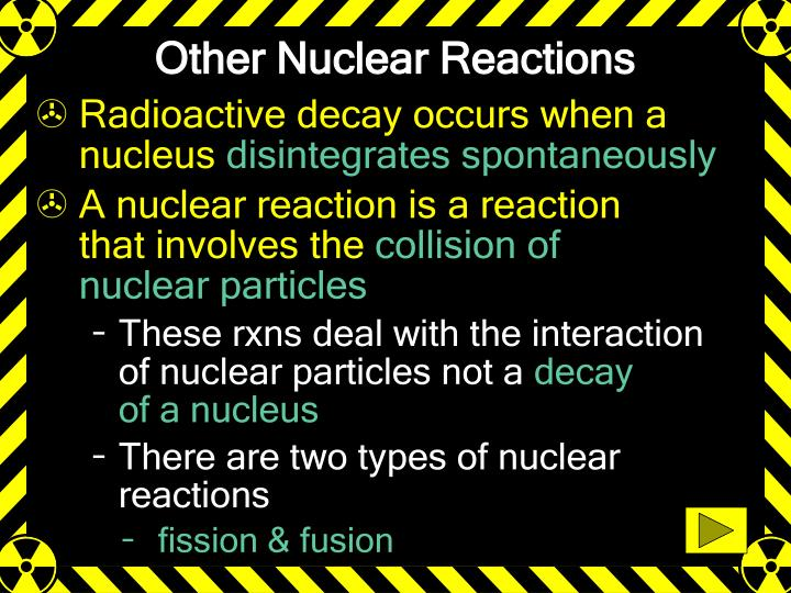 Other Nuclear Reactions