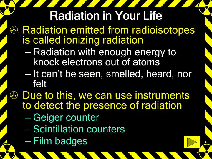 Radiation in Your Life