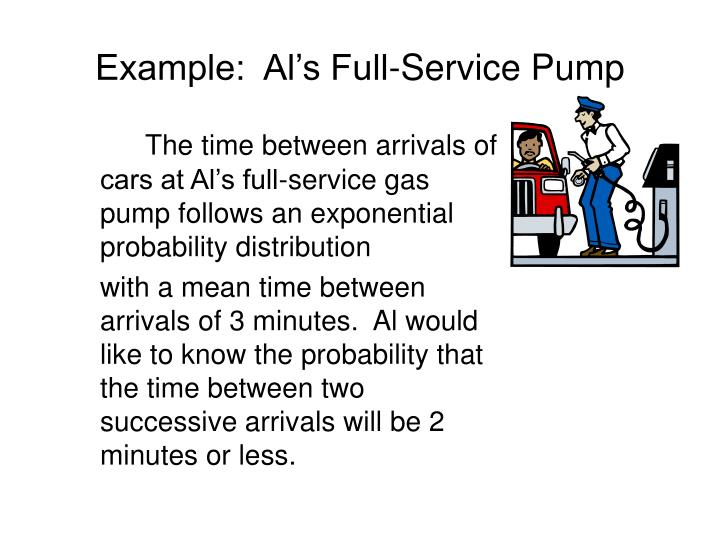 Example:  Al's Full-Service Pump