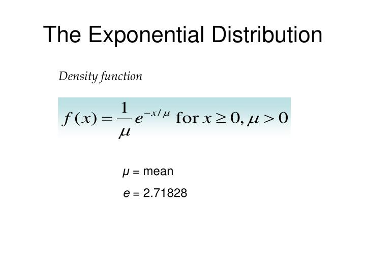 The exponential distribution1