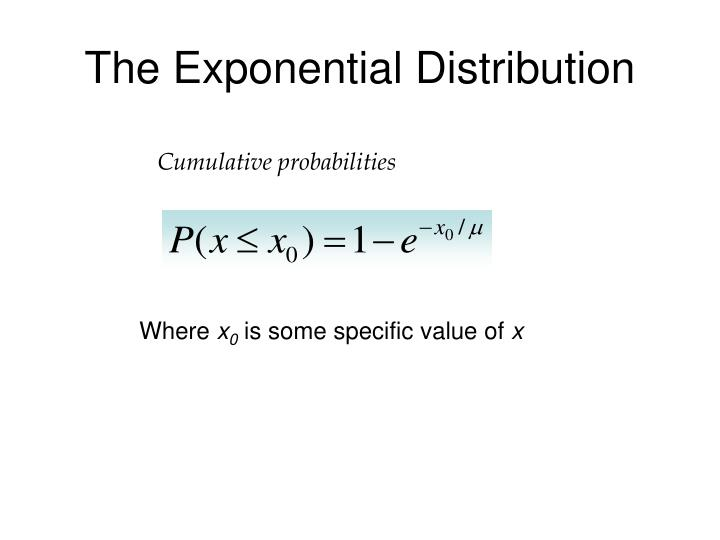 The exponential distribution2