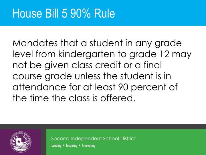 House Bill 5 90% Rule