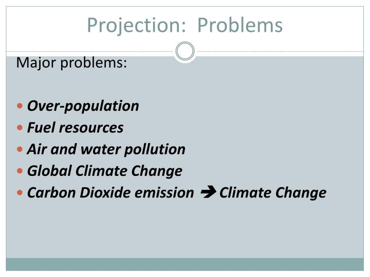 Projection:  Problems