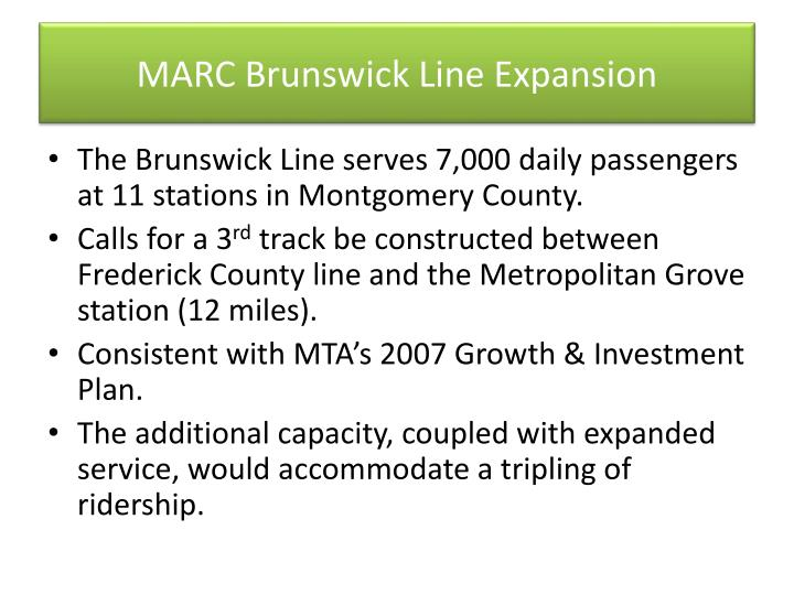 MARC Brunswick Line Expansion