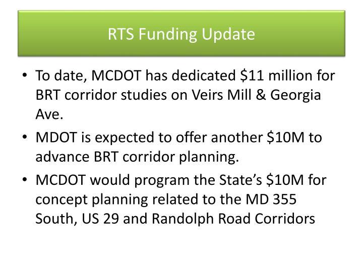 RTS Funding Update