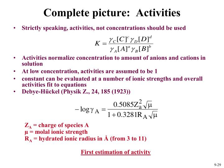 Complete picture:  Activities