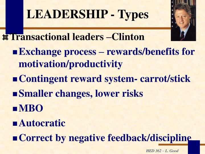 LEADERSHIP - Types