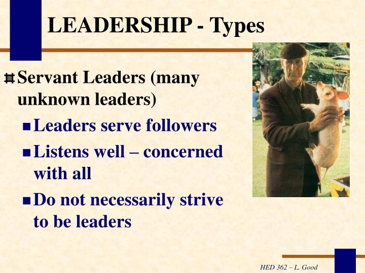 LEADERSHIP - Types