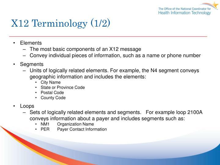 X12 Terminology (1/2)
