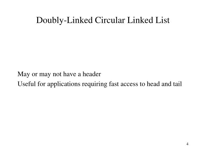 Doubly-Linked Circular Linked List