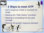 4 ways to meet ayp