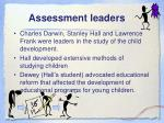 assessment leaders