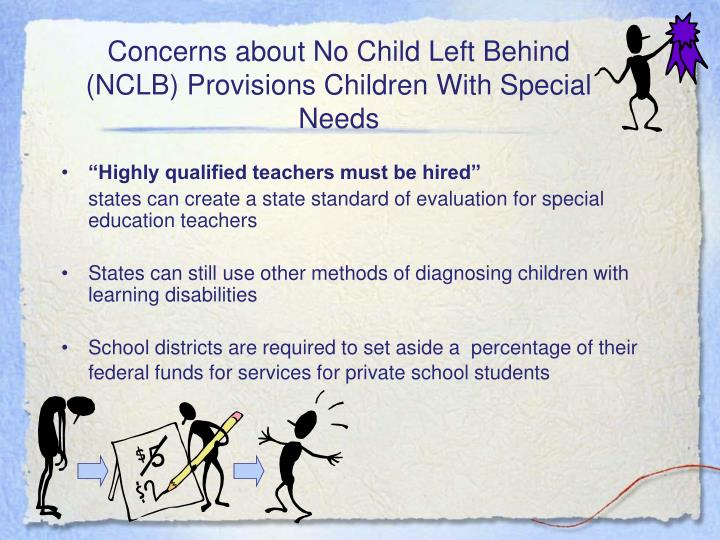 Concerns about No Child Left Behind (NCLB) Provisions Children With Special Needs