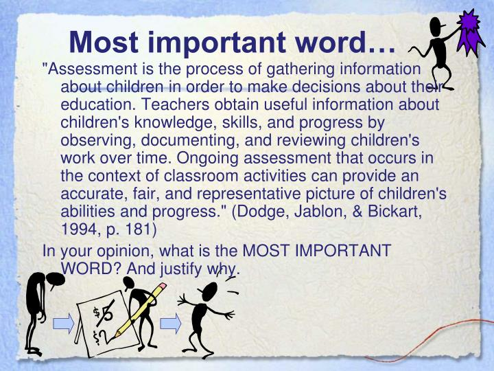 Most important word…