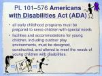 pl 101 576 americans with disabilities act ada
