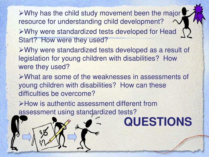 Why has the child study movement been the major resource for understanding child development?