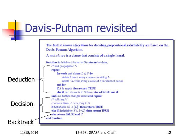 Davis-Putnam revisited