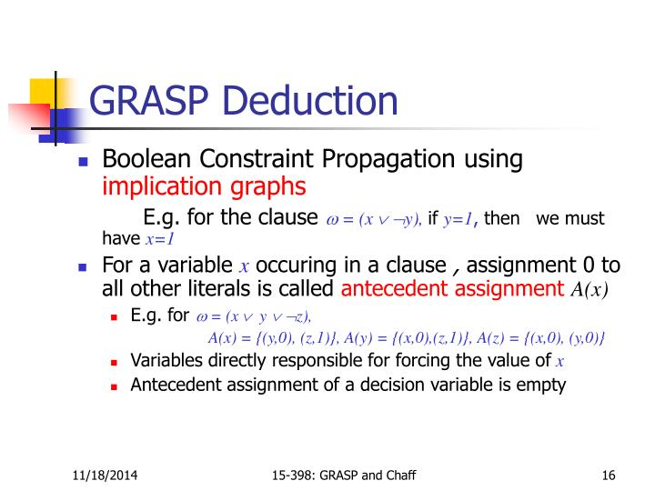 GRASP Deduction