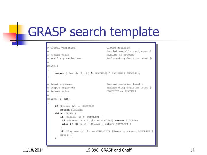 GRASP search template