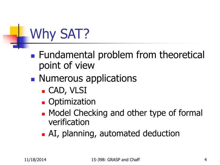 Why SAT?