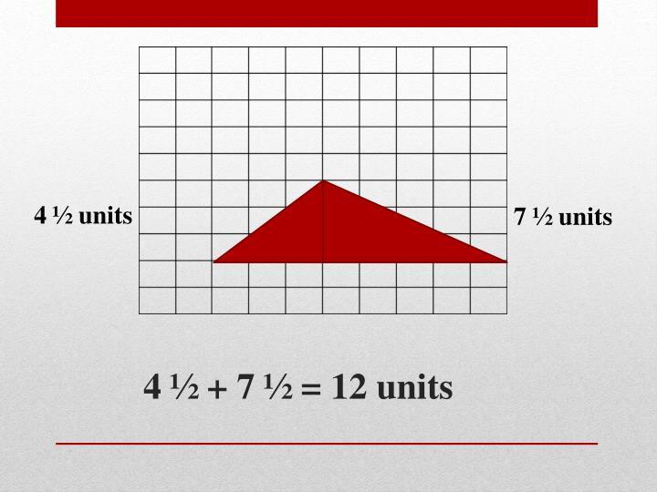 4 ½ units