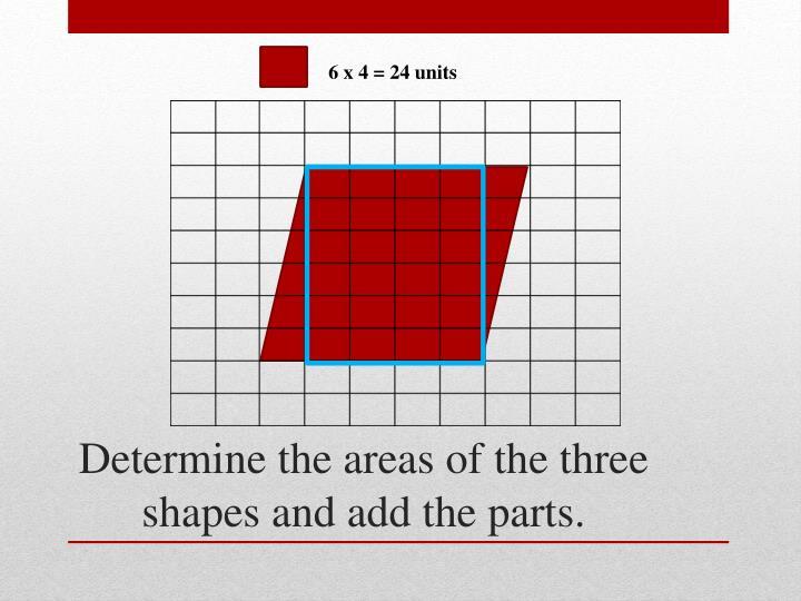 6 x 4 = 24 units