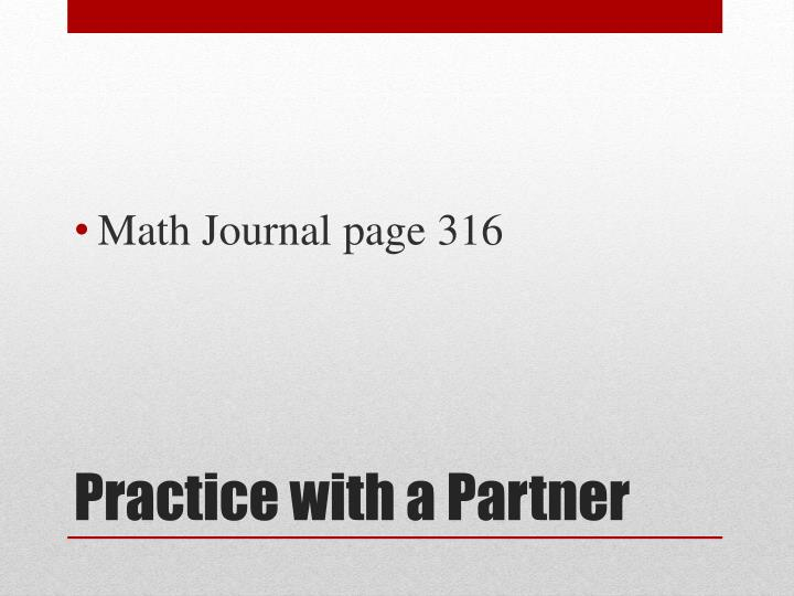 Math Journal page 316