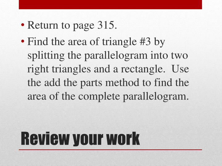 Return to page 315.