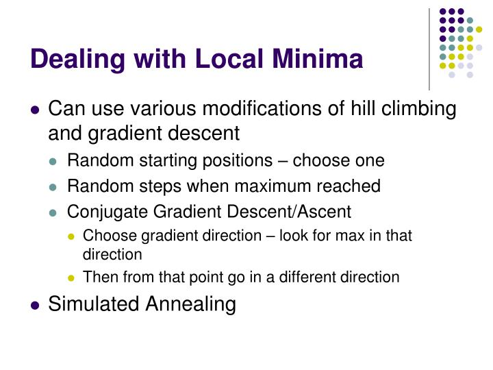 Dealing with Local Minima